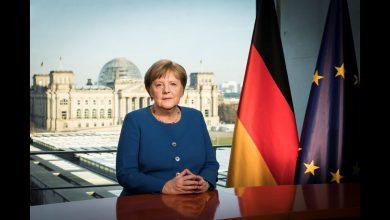 المستشارة الألمانية ميركل تلقي كلمة للتاريخ