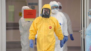 شاهد لرئيس بوتين يدخل قسم المصابين بفيروس كورونا في موسكو