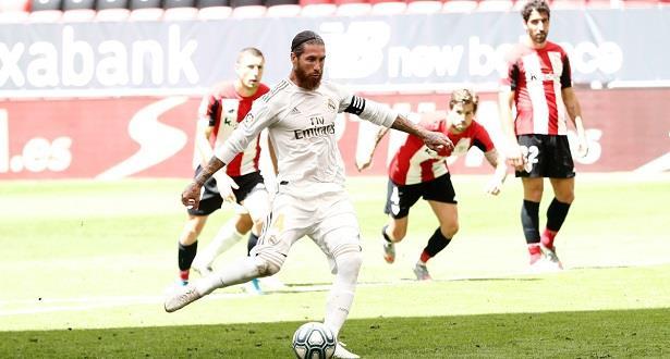 """بطولة إسبانيا: راموس يمنح ريال فوزا """"هائلا"""" وفارق سبع نقاط عن برشلونة"""