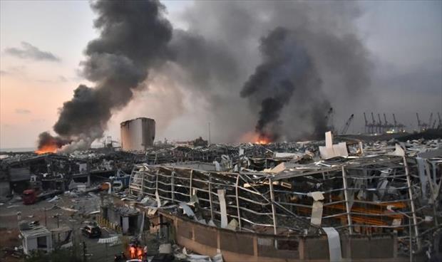 بيروت في حداد غداة انفجار ضخم أوقع أكثر من مئة قتيل وأربعة آلاف جريح