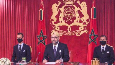 صورة صاحب الجلالة يوجه خطابا ساميا إلى الأمة بمناسبة الذكرى الـ67 لثورة الملك والشعب