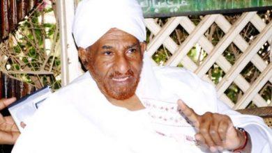 صورة وفاة الصادق المهدي زعيم حزب الأمة السوداني مثأثرا بفيروس كورونا