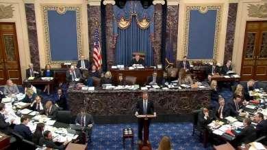45 جمهوريا في مجلس الشيوخ يصوتون لوقف محاكمة ترامب