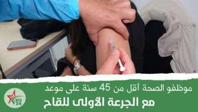 موظفو الصحة لأقل من 45 سنة بالقطاع الخاص، يتلقون الجرعة الأولى للقاح