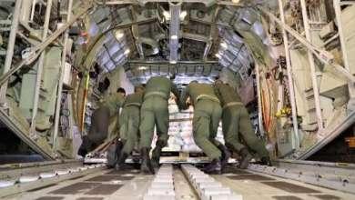 مغادرة طائرات محملة بمساعدات غذائية لفائدة القوات المسلحة اللبنانية والشعب اللبناني