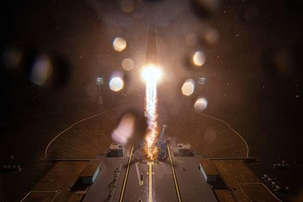 صاروخ يحمل 36 قمرا اصطناعيا لتوفير إنترنت عالي السرعة بكل أنحاء العالم