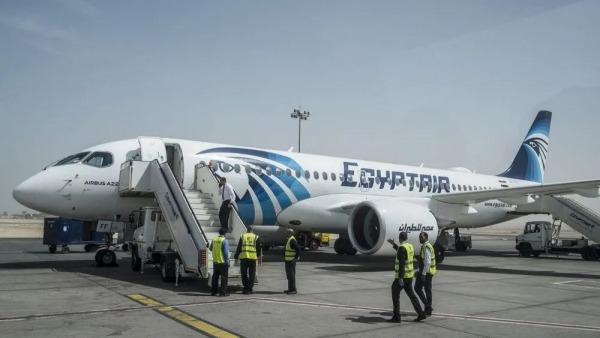 """أول رحلة جوية لـ""""مصر للطيران"""" تحط في إسرائيل"""